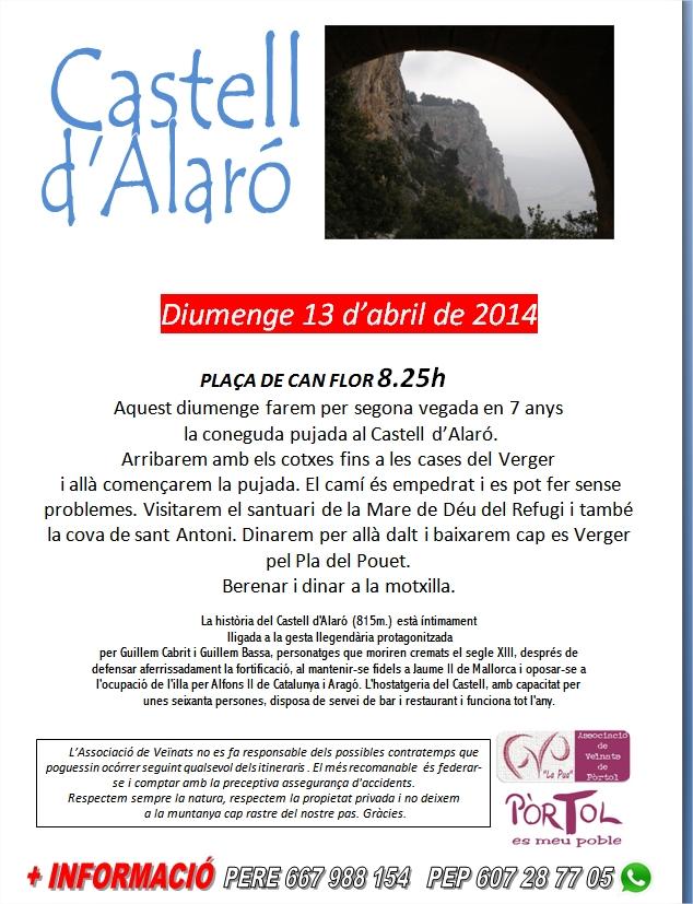 Excursió Castell d'Alarò