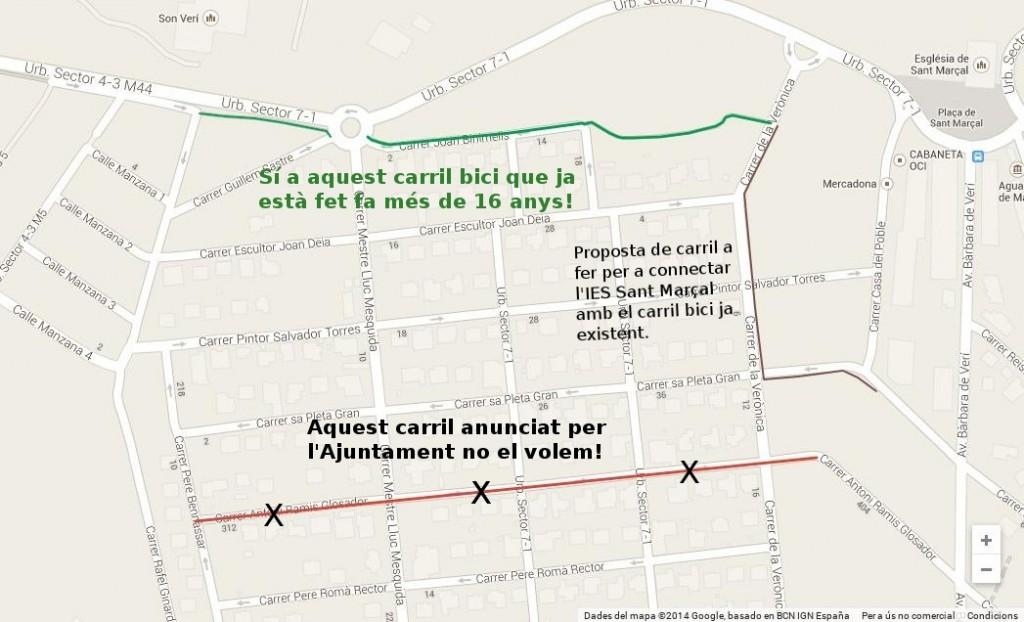 Carrils bici a Sant Marçal