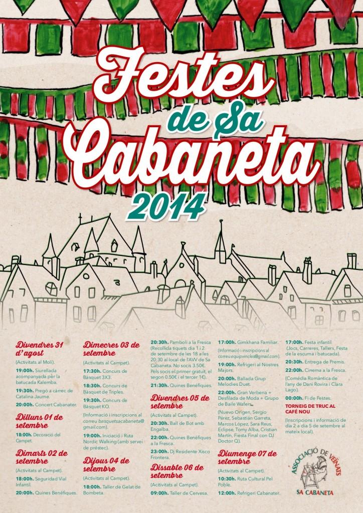 CARTELL FESTES SA CABANETA 2014