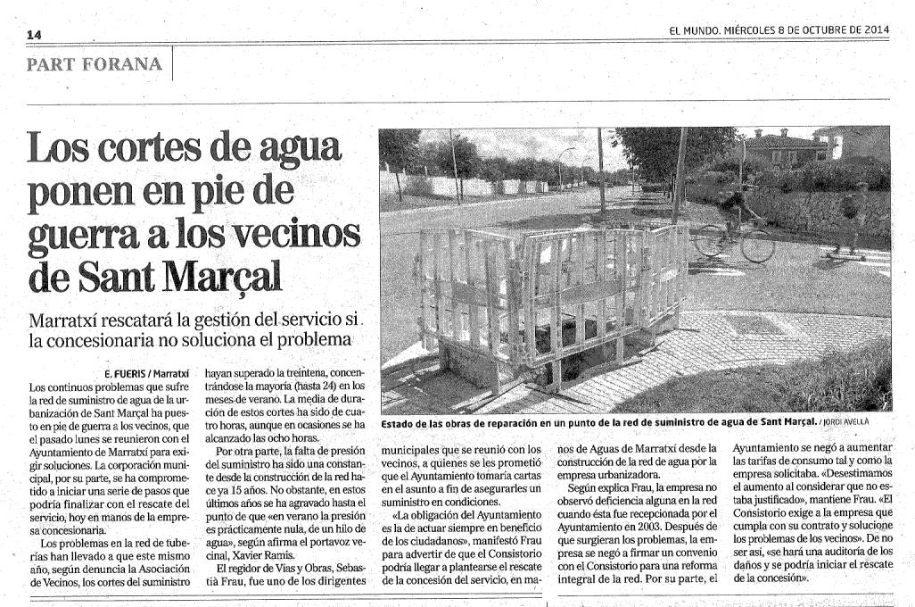 Noticia publicada avui a El Mundo