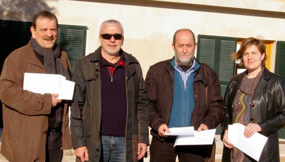 Xavier Ramis amb els portaveus dels grups polítics municipals